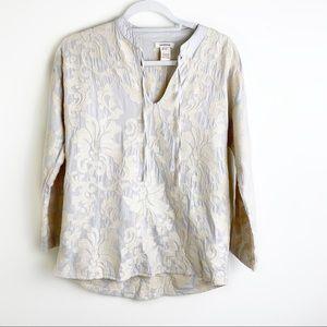 Sundance Beige Embroidered Blouse